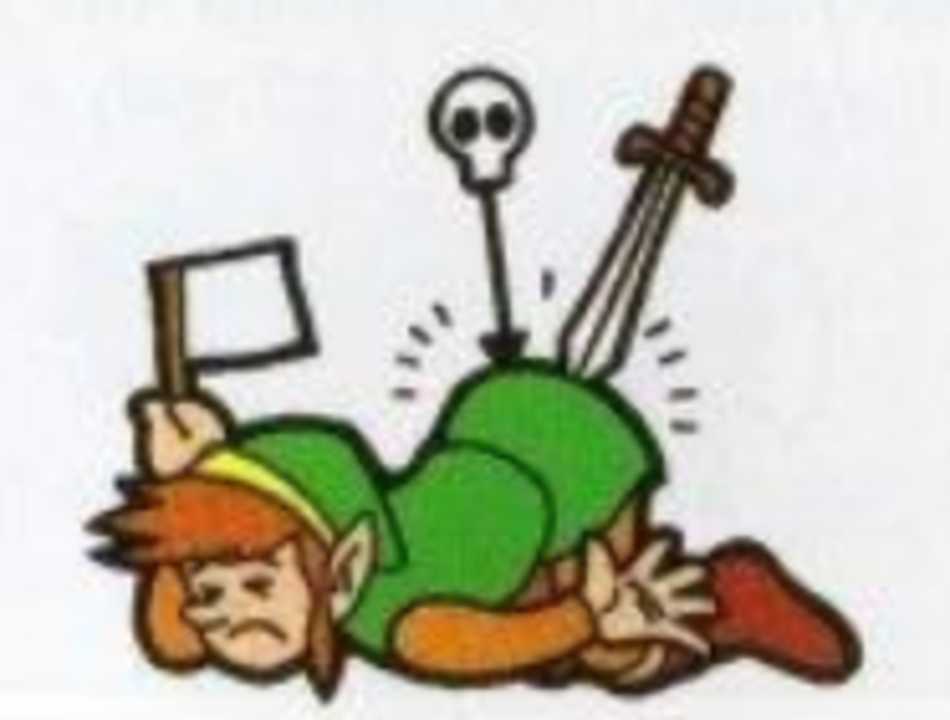Link Zelda II Surrender