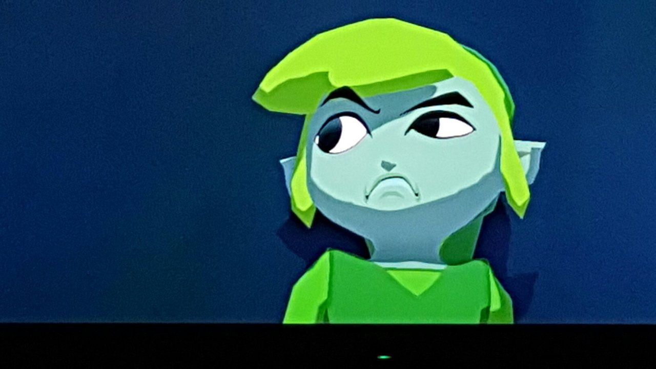 Link's frown.